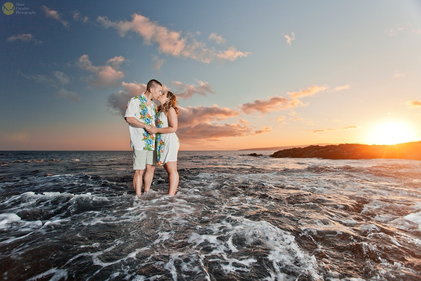 Engagement Photographs in La Perouse, Hawaii by Maui Creative Photography