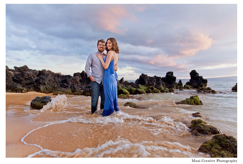 Engagement Session by Maui Creative Photography in Makena, Hawaii