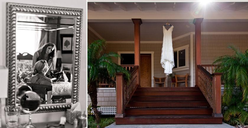 bride; seaside; maui; hawaii; getting ready; wedding dress; love; wedding