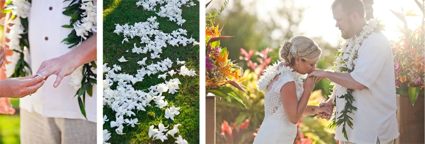 bride; groom; ceremony; maui; hawaii; embrace; love; wedding; sweet moments