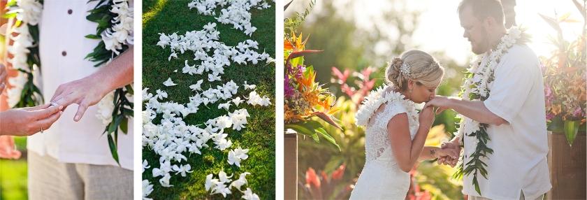 bride; groom; ceremony; maui; hawaii; embrace; love; wedding; sweet moments