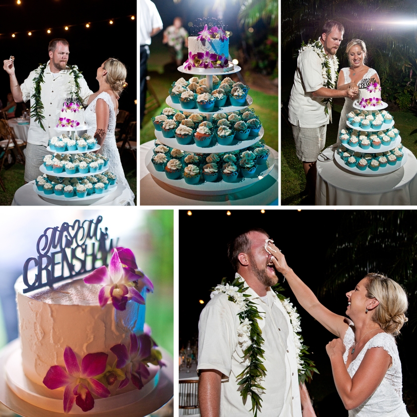 bride; groom; seaside; maui; hawaii; embrace; love; wedding