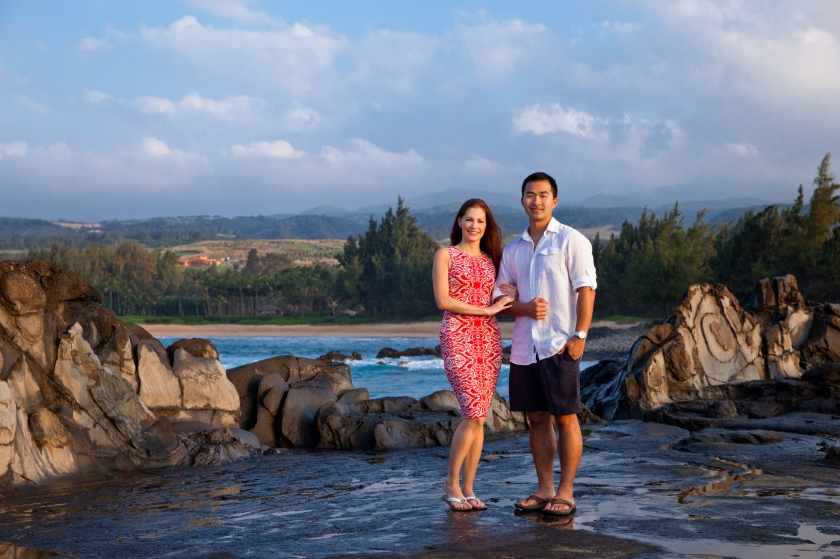 Romantic honeymoon portraits in Maui, Hawaii.