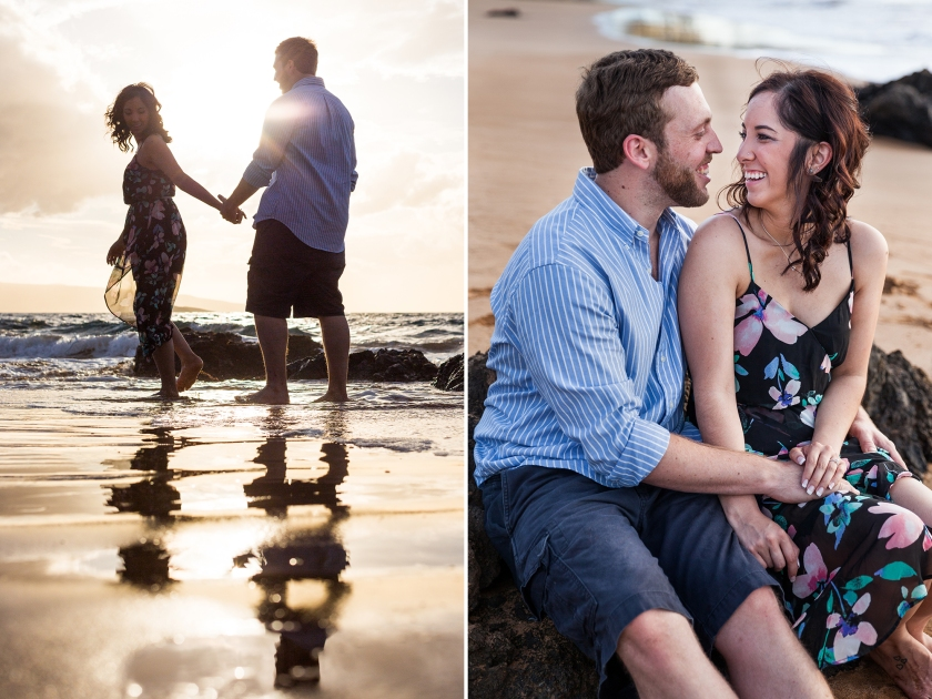 fun-romantic-maui-beach-engagement-portraits-1