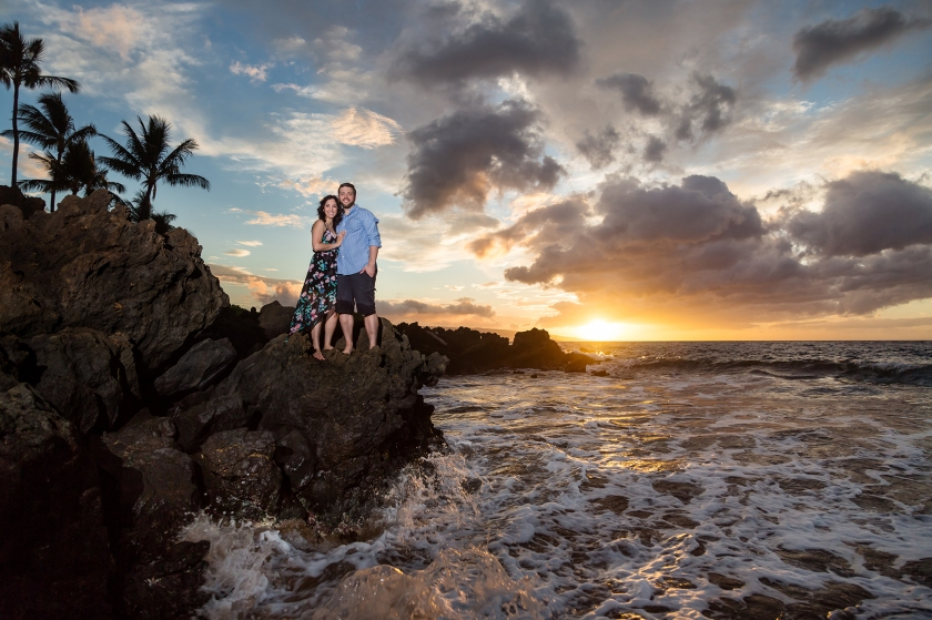 fun-romantic-maui-beach-engagement-portraits-6