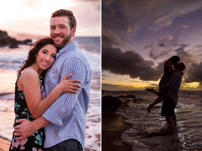 fun-romantic-maui-beach-engagement-portraits-8