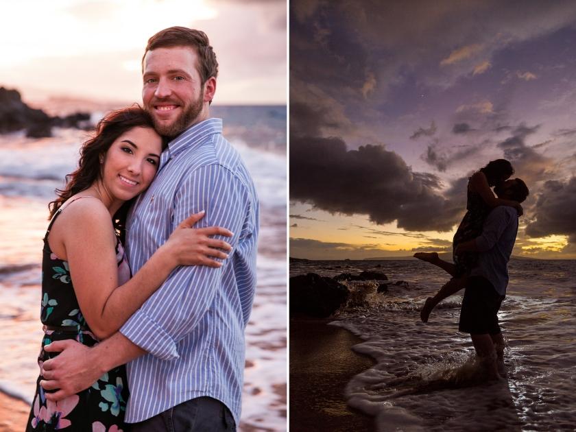 fun-romantic-maui-beach-engagement-portraits-8